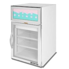 "Beverage-Air 22"" Stainless Steel Reach-In Display Refrigerator"