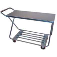 "Win-Holt® WX-1000KA Steel 22 x 50"" Stocking / Marketing Cart"