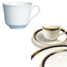 Steelite 42032435 Gold Pia Blue 6-1/2 Oz American Coffee Cup - 24 / CS