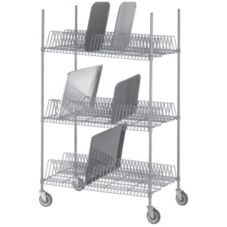 Channel Mfg. W3TD-1 Tray Drying Rack with 34 Slots per Shelf