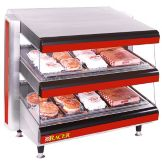 "APW Wyott DMXS-30S 30"" Racer Slanted Merchandiser with 1 Shelf"