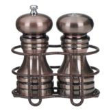 "Chef Specialties 90055 6"" Pepper Mill / Salt Shaker Set with Holder"