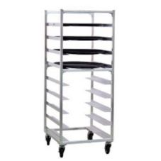 """New Age 95681 Aluminum Oval Tray Rack for 22 x 26-7/8"""" Trays"""
