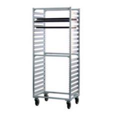 New Age 1461S Aluminum Full Height Mobile Open-Sided 38-Pan Rack