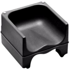 Cambro® 200BC1110 Black Dual Height Booster Seat with No Strap