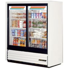 True® Slide Door Slim Line Refrigerator Merchandiser, 17 Cubic Ft