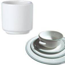 "Steelite 13150206 Simplicity Laguna 1-7/8"" Footless Egg Cup - 12 / CS"