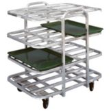 Win-Holt AVT-4-2637/P Aluminum Mobile Merchandiser Display for 8-Trays