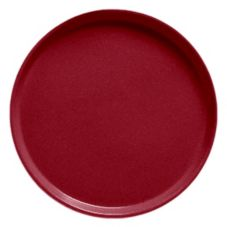 "Cambro® Camtray® 16"" Cherry Red Round Serving Tray"