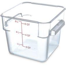 Carlisle StorPlus™ 6 Qt. Square Clear Food Storage Container