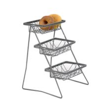 Dover European Metalwork D-6019SB Steel Amenity Stand With Baskets