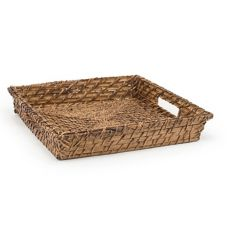 """Front Of The House BPT021BRK22 12"""" Brown Rattan Tray - 6 / CS"""