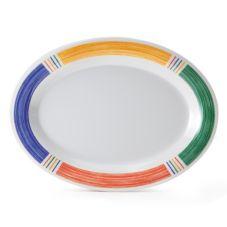 """G.E.T. OP-950-BA Barcelona 9-3/4"""" Melamine Oval Platter - 24 / CS"""