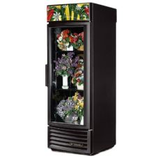 True® Black Radius Front Refrigerated Floral Case, 23 Cu Ft