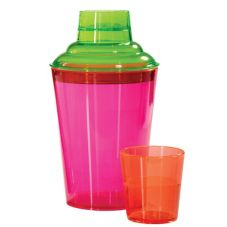 G.E.T. Cheers Specialty Drinkware 19.7 Oz. 3-Pc Neon Cocktail Shaker Set