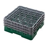Cambro® 16S638119 Green Camrack® 16 Compartment Glass Rack