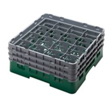 Cambro Camrack® Glass Rack, Green, 16 Compartments