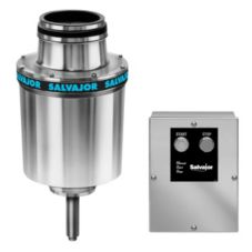 "Salvajor 3-HP Disposer w/ 3-1/2"" Sink Assembly / Solenoid Valve"