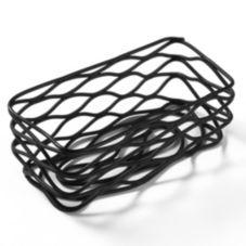 """American Metalcraft BNSB3 Black 4-1/2"""" Birdnest Wire Basket"""