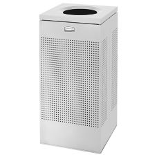 Rubbermaid® FGSC14EPLSM Silver Metallic Square 16 gal Receptacle