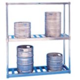 Win-Holt BKR-54/E Aluminum E-Channel Beer Keg Rack for Half-Barrels