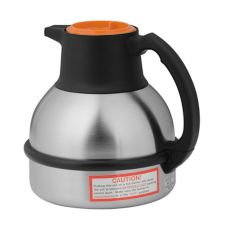 BUNN® 36252 Deluxe 64 Oz. Thermal Carafe with S/S Liner and Orange Lid - 12 / PK