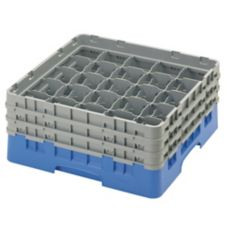 Cambro 25S638168 Camrack Blue 25 Compartment Full Size Glass Rack