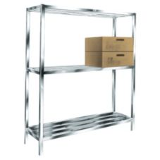 Win-Holt ALSCS-60-324 HD Aluminum 3-Shelf Cooler and Backroom Shelving