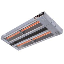 "APW Wyott FDD-66H-T 66"" Dual 3600W Heat Lamp with Toggle Control"
