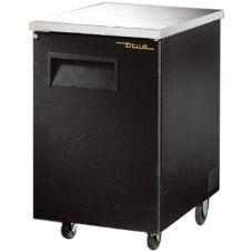 True® Black Solid Swing Door Back Bar Cooler for 1 Half Barrel