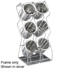 Cal-Mil 1025-6-13 Black Wire Space Saver 6 Hole Silverware Display
