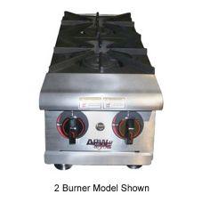 APW Wyott HHPS-212 Cookline Gas Step-Up (2) 30000 BTU Burner Hot Plate