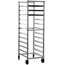 New Age Industrial 6303 Aluminum 12 Pan Rack with Angled Guides