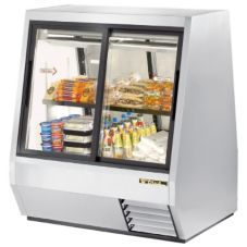True® Pass-Thru 28 Cu Ft Deli Case w/ 2-Front and 2-Rear Doors