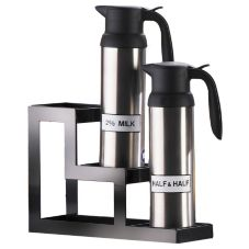 Cal-Mil 1210 Black Steel Frame 3 Step Milk Carafe Station