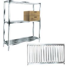 Win-Holt ALSTB-48-320 Alum. 3-Shelf T-Bar Cooler and Backroom Shelving