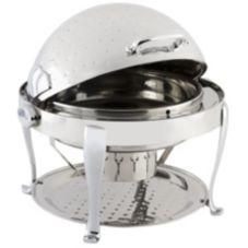 Bon Chef 19000CHH Elite Hammered Round 2 Gal Chafer w/ Roman Legs