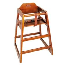 Winco® CHH-104 Walnut Stacking Unassembled High Chair