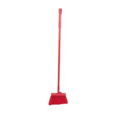 Angle Broom W/ Red Plastic Bristles - 48""