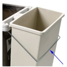 Metro® Waste Can Holder for Tall Lodgix™ Carts