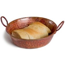 "Orion C35-R 8"" x 2.5"" Rustic Copper Bread Basket"