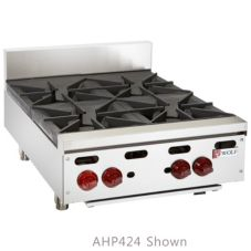Wolf Range Achiever 240000 Total BTU 4-Open Burner Gas Hotplate
