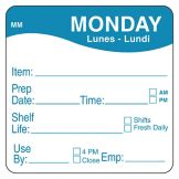 "DayMark 1122121 MoveMark 2"" Monday Shelf Life Day Square - 500 / RL"