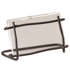 "Cal-Mil® Black Frame Twig Style 2"" x 3.5"" Card Holder"