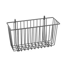 "Metro® H209B Super Erecta® 13 x 5 x 7"" Black Storage Basket"