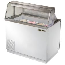 True® Curved Glass Dipping Cabinet Freezer, 12.7 Cubic Ft