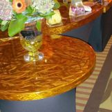 "Gourmet Flexi GFT-460 Swirled Copper 60"" Round Table Top"