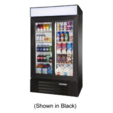 Beverage-Air LV38-1-W LumaVue White Reach-In Refrigerated Merchandiser