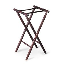 "Tablecraft 31 31"" Tall Mahogany Finish Teak Wood Tray Stand"