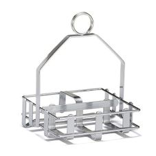 TableCraft 609R S&P Shaker and Sugar Packet Condiment Caddy